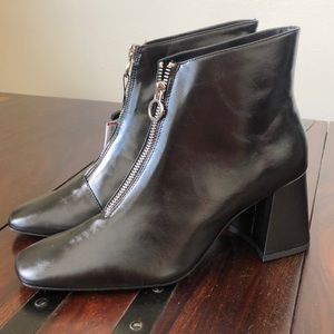 NWT Zara Black Boots with Zipper